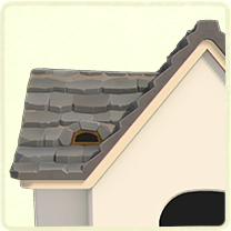 灰色の石の屋根