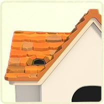 オレンジの石の屋根