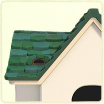 緑の石の屋根