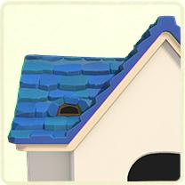 青い石の屋根