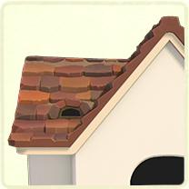 茶色い石の屋根