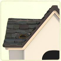 黒い石の屋根