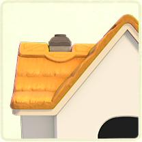 きつね色のかやぶき屋根