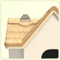 白いかやぶき屋根
