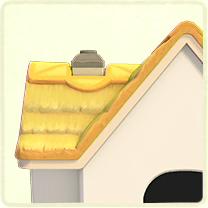 若草色のかやぶき屋根