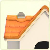 オレンジのかやぶき屋根