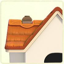 茶色いかやぶき屋根