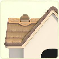 灰色のかやぶき屋根