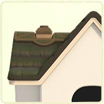 深緑のかやぶき屋根