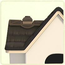 黒いかやぶき屋根