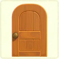 メープルの木組みのドア