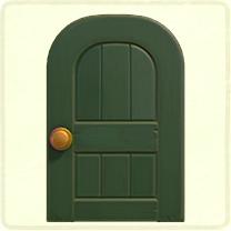 緑のよくあるドア
