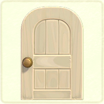 白い木組みのドア