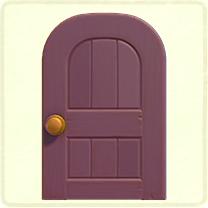 紫の木組みのドア