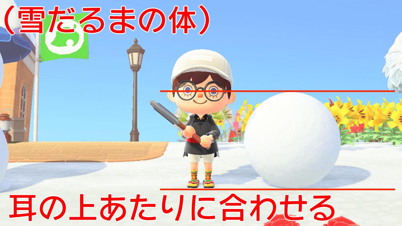 雪だるまの体