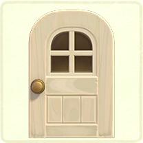 白い窓付きのドア