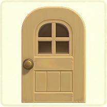 ベージュの窓付きのドア