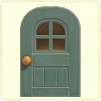 グレーの窓付きのドア