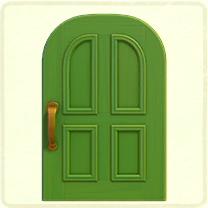 黄緑のよくあるドア