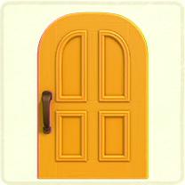 黄色いよくあるドア