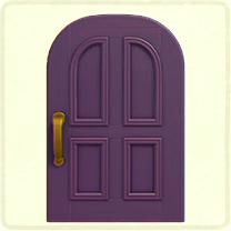 紫のよくあるドア