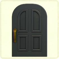 黒いよくあるドア
