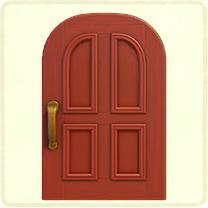 赤いよくあるドア