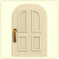 白いよくあるドア