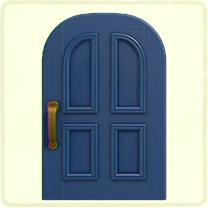 青いよくあるドア