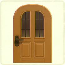 メープルの縦長窓のドア