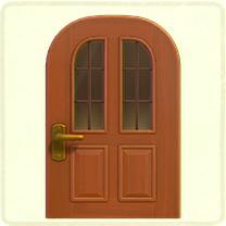 縦長窓のドア