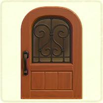 アイアングリルのドア