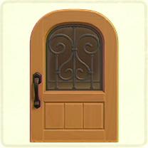 メープルのアイアングリルのドア