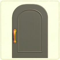 グレーのシンプルなドア