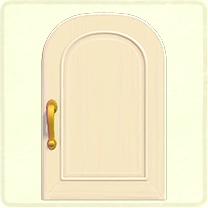 白いシンプルなドア