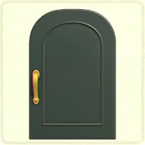 深緑のシンプルなドア