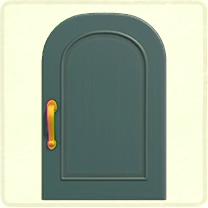 青いシンプルなドア