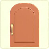 ピンクのシンプルなドア
