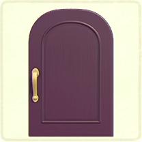 紫のシンプルなドア
