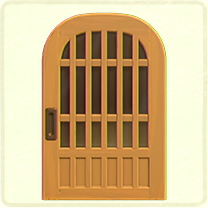 格子のドア