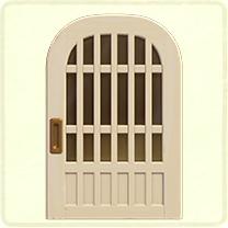 白い格子のドア