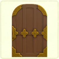 茶色の和風なドア