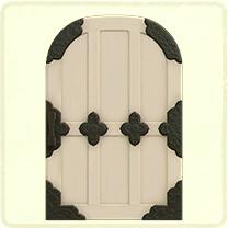 白い和風なドア