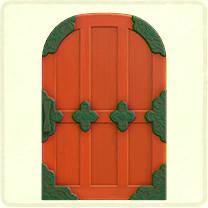 赤い和風のドア