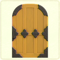 黄色い格子のドア