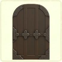 黒い格子のドア