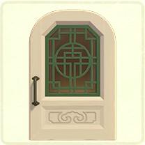 白い中華なドア