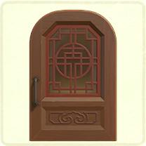 茶色い中華なドア