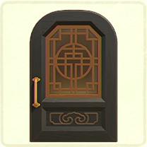 黒い中華なドア