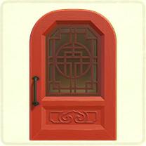 赤い中華なドア